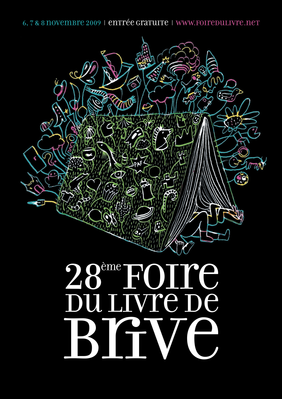 foire du livre de brive 28 me dition el onore guillon graphisme photographie vid o. Black Bedroom Furniture Sets. Home Design Ideas